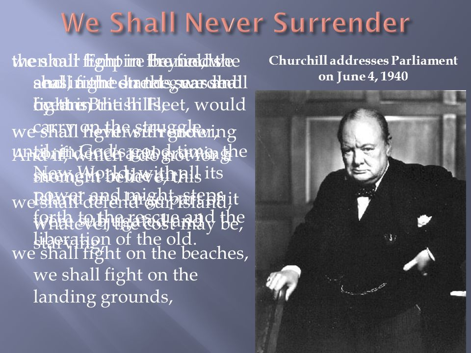 We Shall Never Surrender