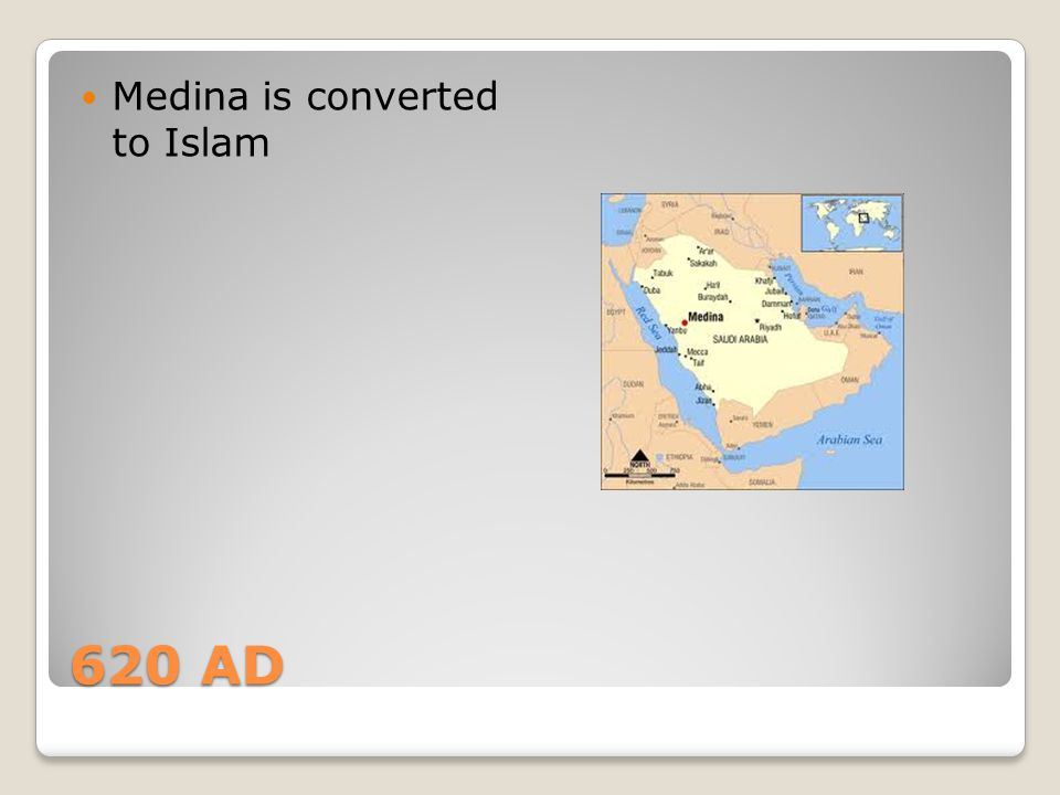 Medina is converted to Islam