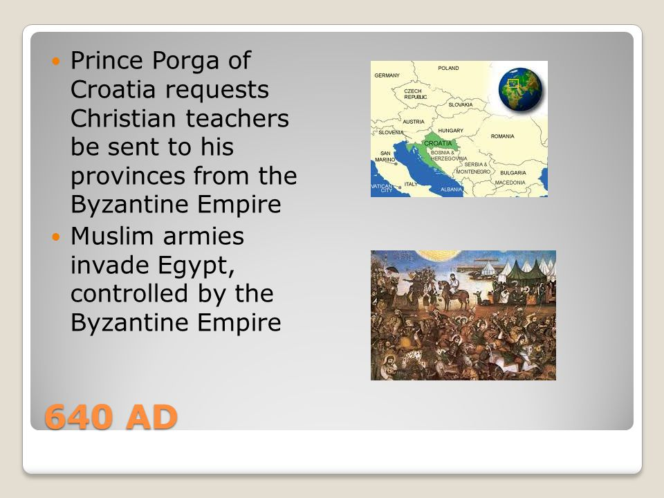 Prince Porga of Croatia requests Christian teachers be sent to his provinces from the Byzantine Empire