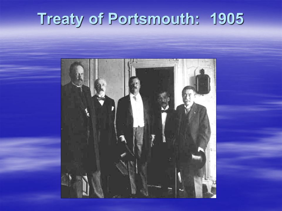 Treaty of Portsmouth: 1905