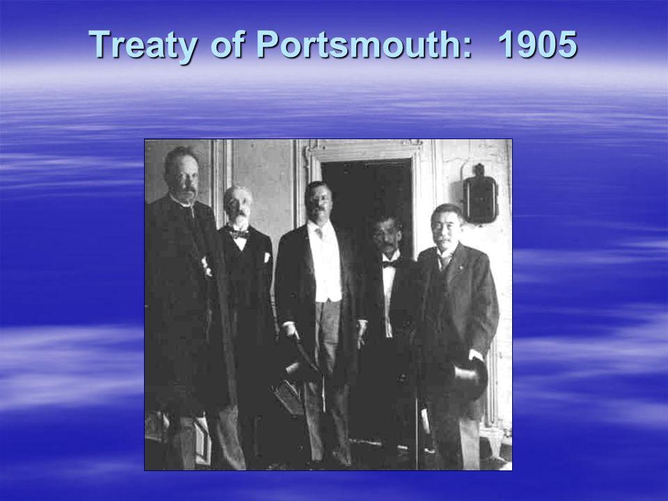 Treaty of Portsmouth: 1905