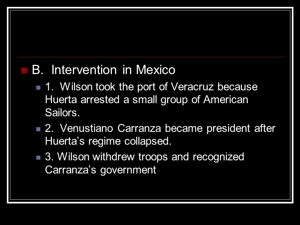 B. Intervention in Mexico