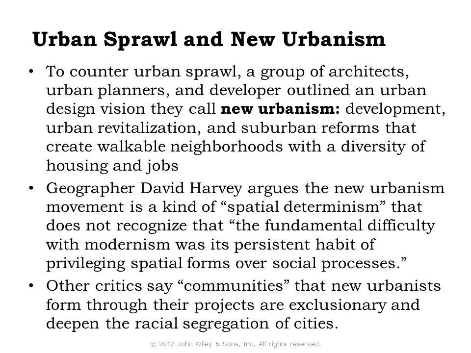 Urban Sprawl and New Urbanism