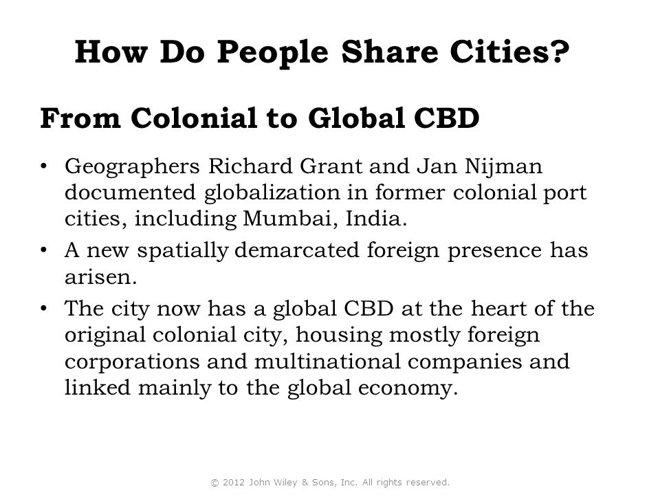 From Colonial to Global CBD