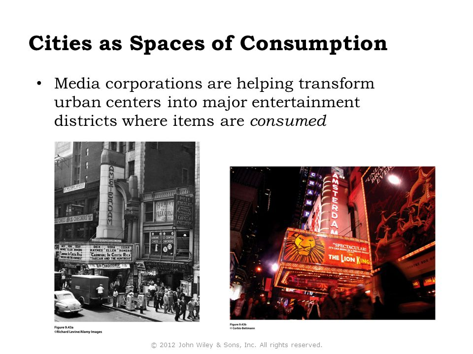 Cities as Spaces of Consumption