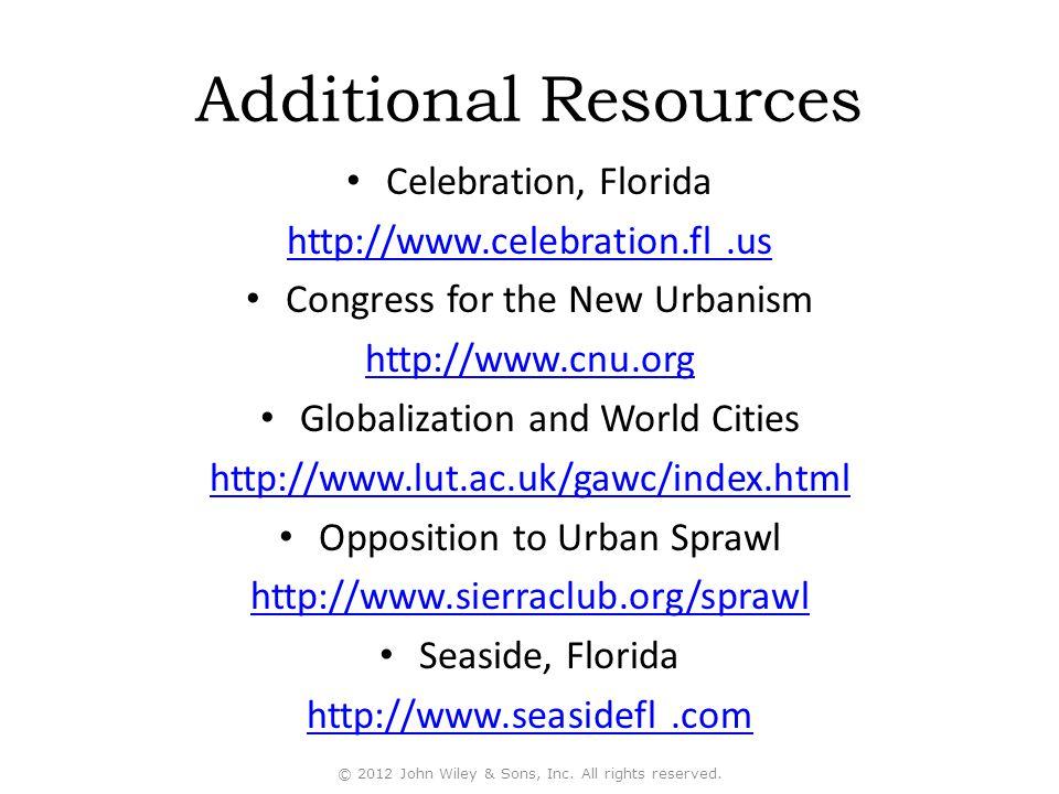 Additional Resources Celebration, Florida