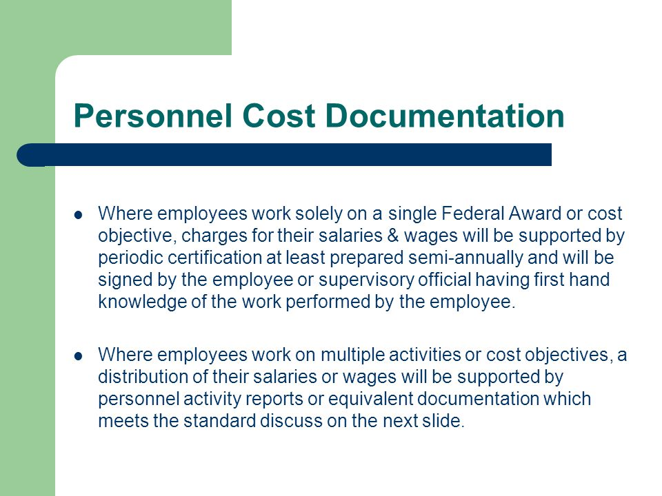 Personnel Cost Documentation