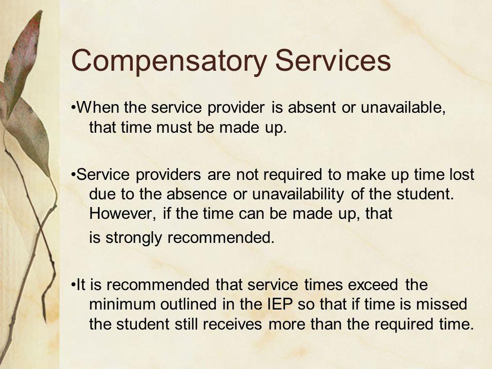 Compensatory Services