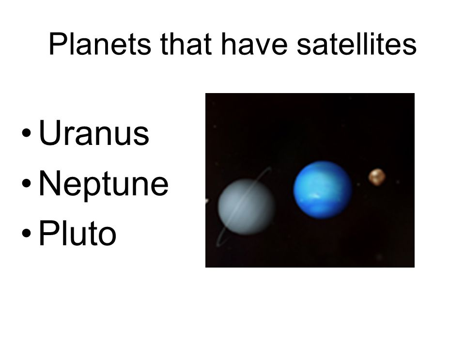 Planets that have satellites