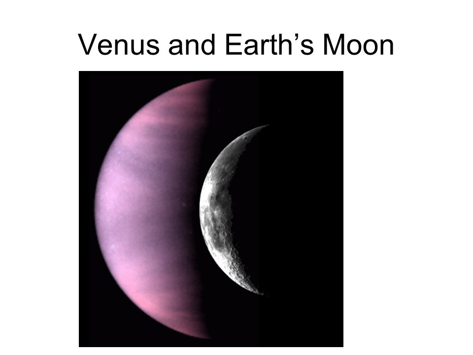 Venus and Earth's Moon
