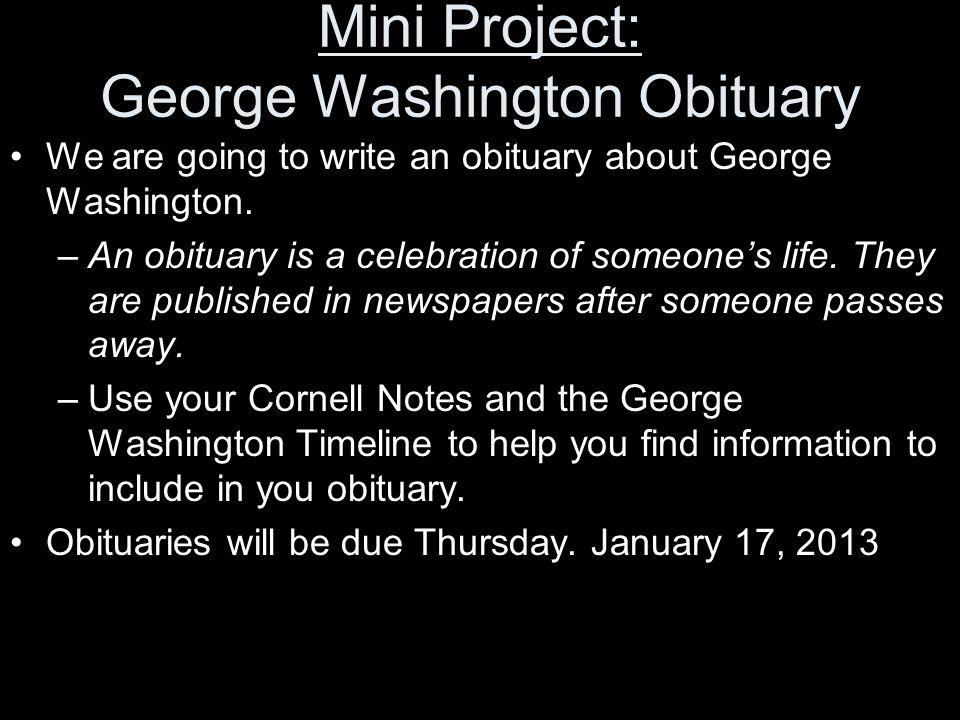 Mini Project: George Washington Obituary