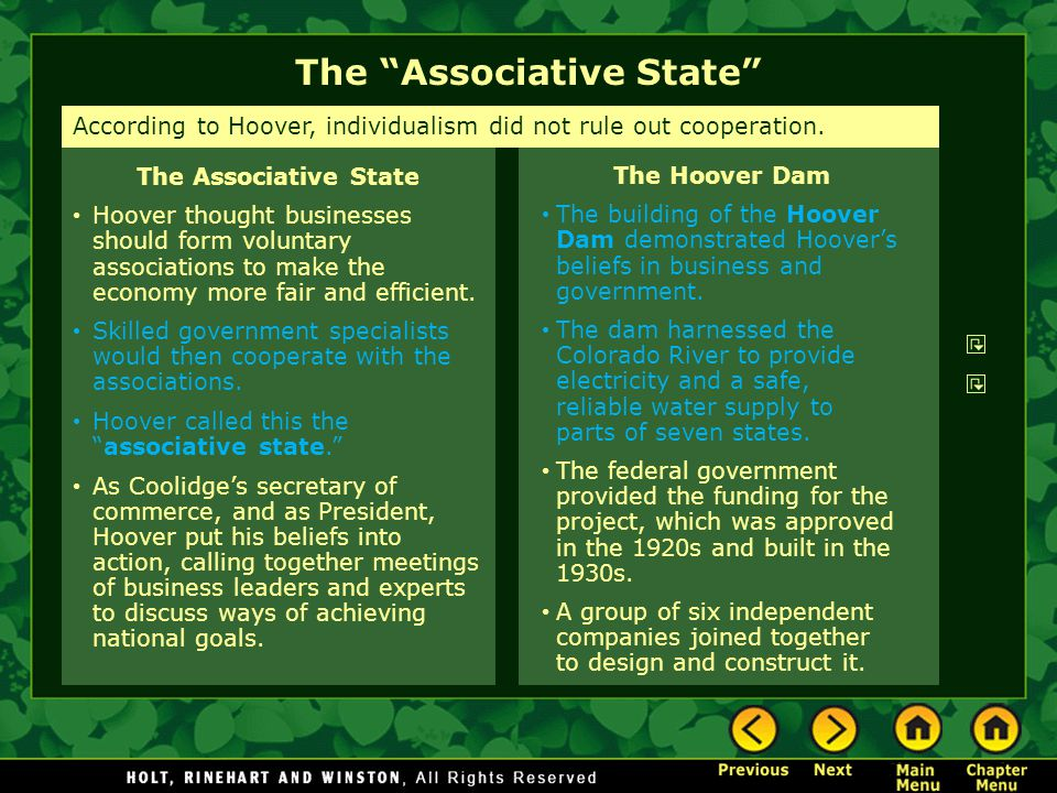 The Associative State
