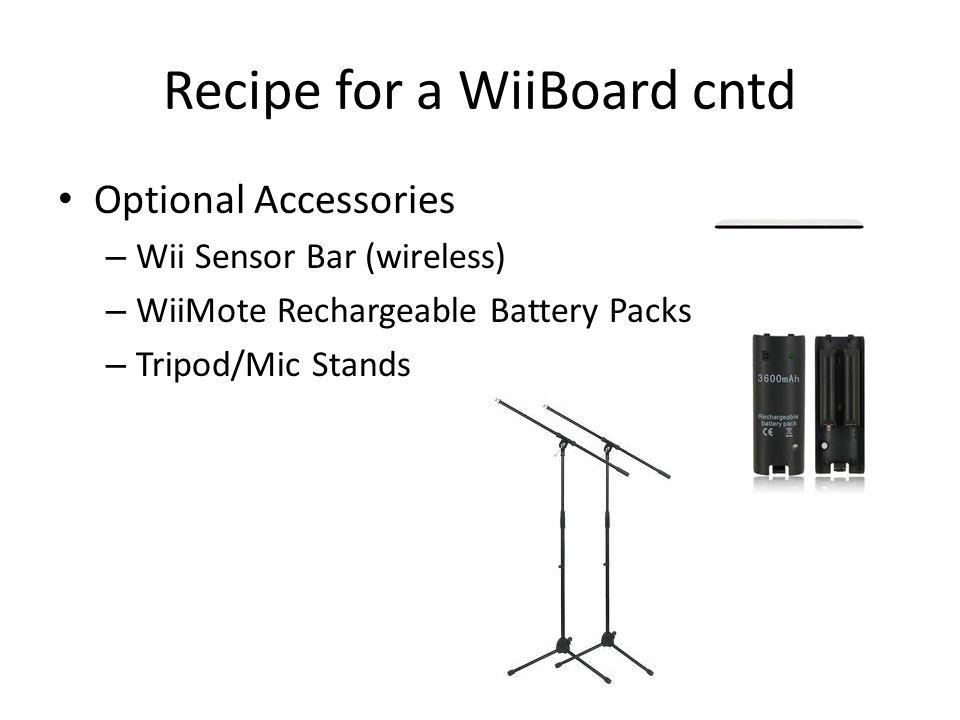 Recipe for a WiiBoard cntd
