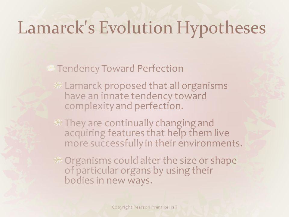Lamarck s Evolution Hypotheses