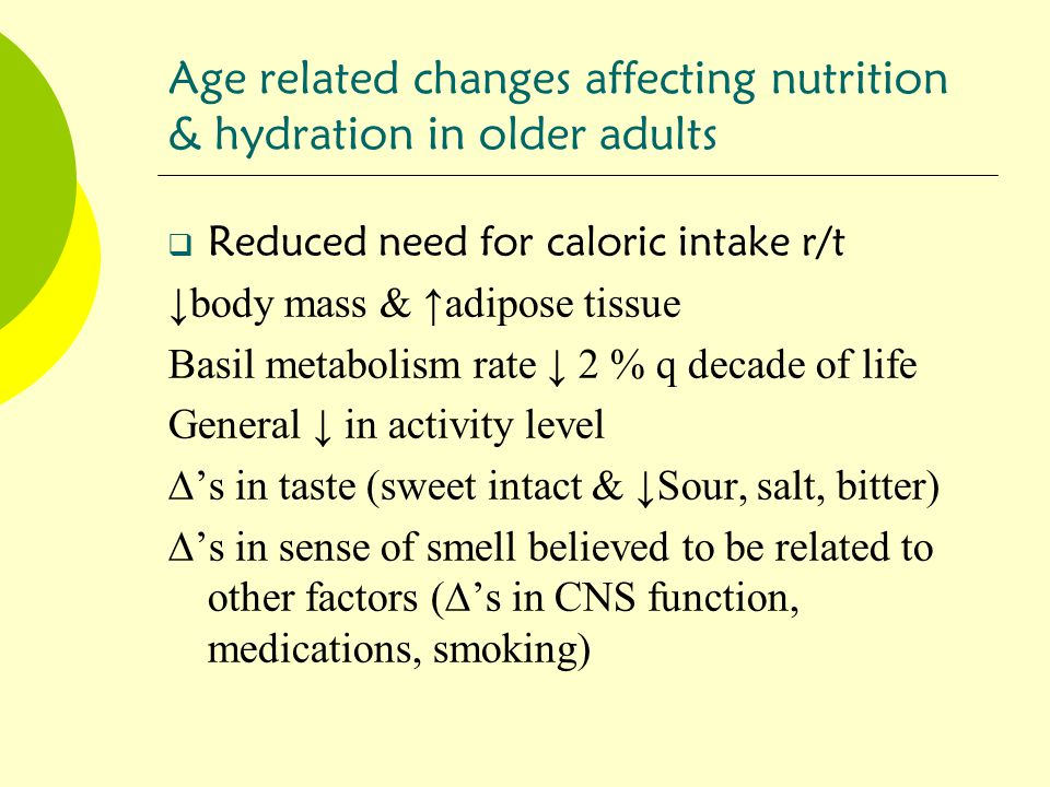 nutrition as it relates to aging essay The relationship between nutrition and aging essay chicken  as opposed to  parenteral feedings, which is linked to a higher probability of systemic infection.