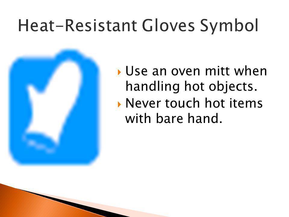 Heat-Resistant Gloves Symbol