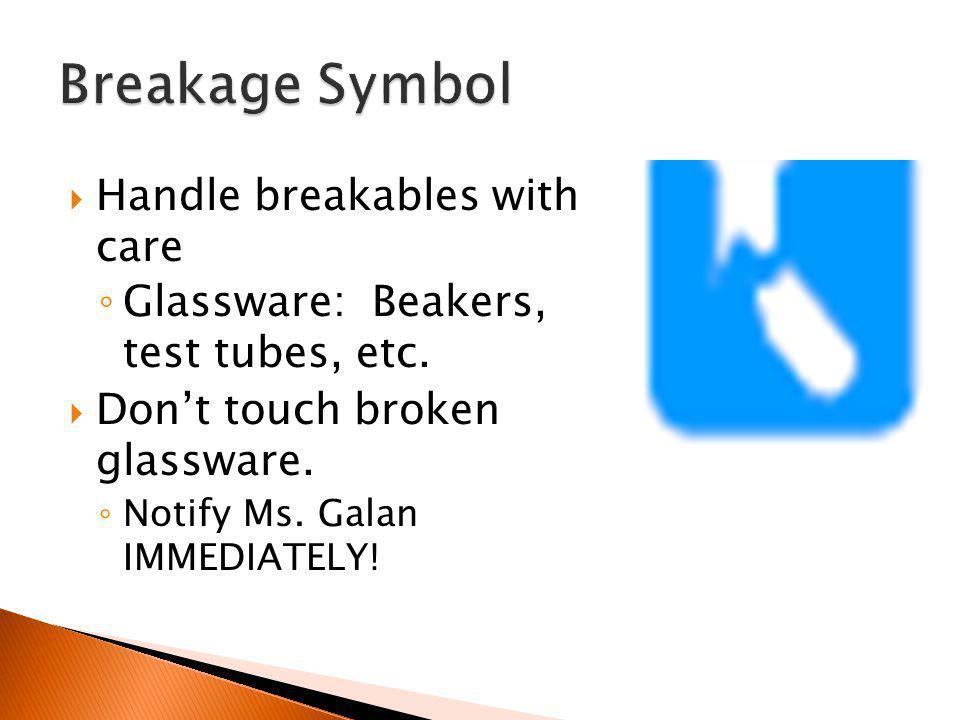 Breakage Symbol Handle breakables with care