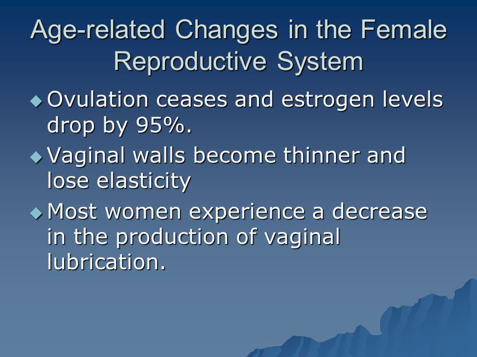 Age-related Changes in the Female Reproductive System