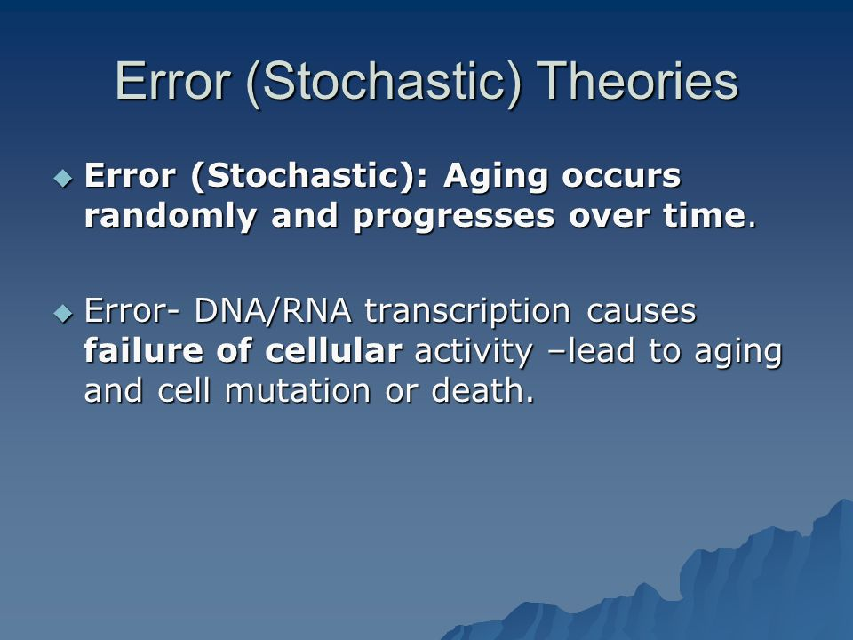Error (Stochastic) Theories
