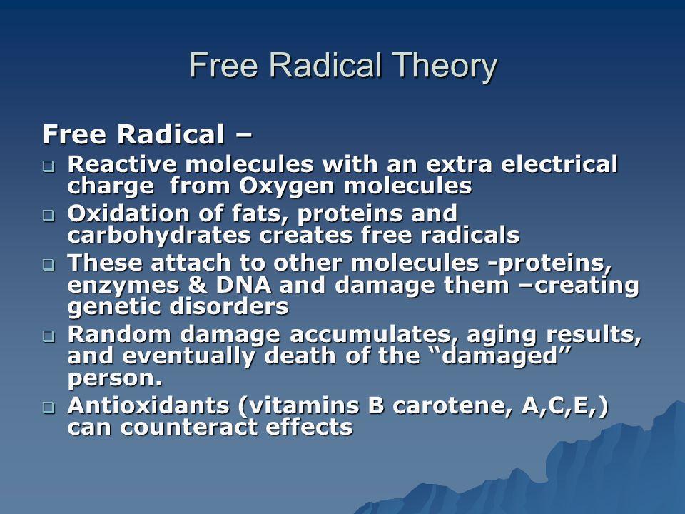 Free Radical Theory Free Radical –