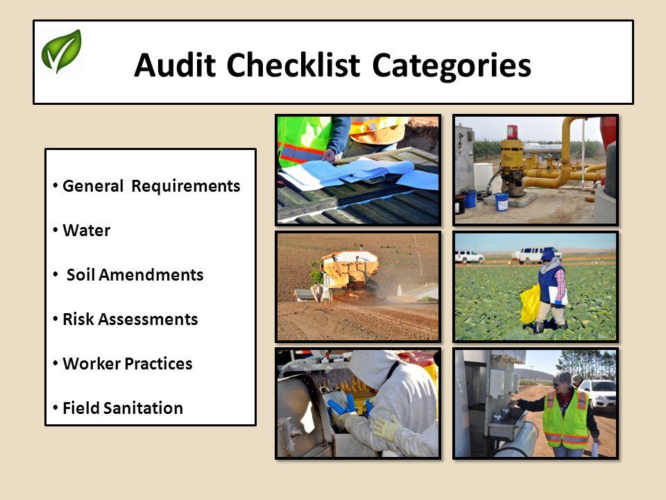 Audit Checklist Categories