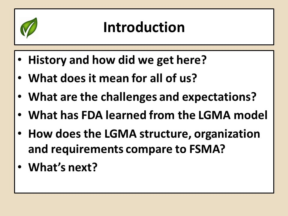 Introduction History and how did we get here