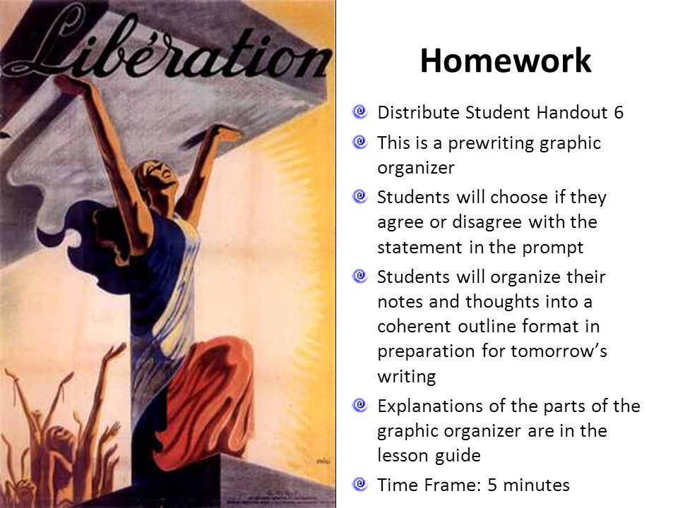 Homework Distribute Student Handout 6