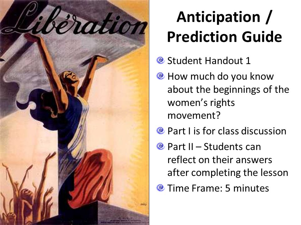 Anticipation / Prediction Guide