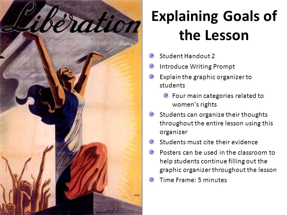 Explaining Goals of the Lesson