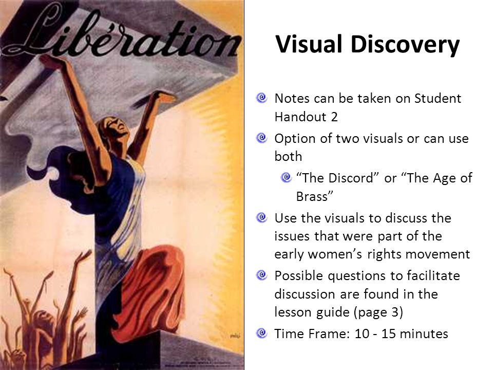 Visual Discovery Notes can be taken on Student Handout 2