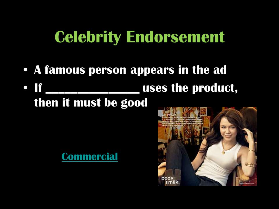 Celebrity Endorsement