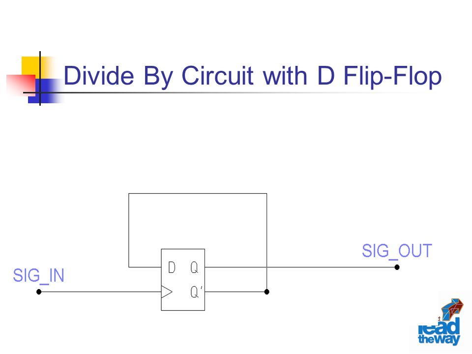 Divide By Circuit with D Flip-Flop