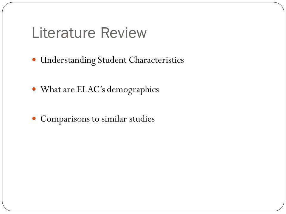 Literature Review Understanding Student Characteristics