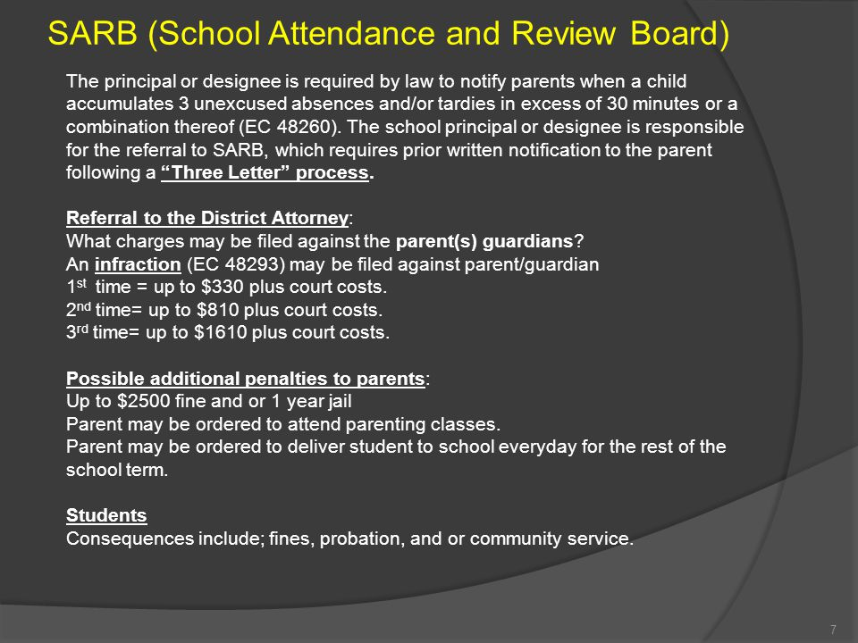 SARB (School Attendance and Review Board)
