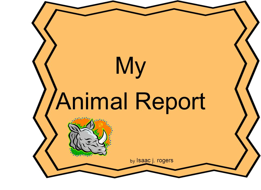 My Animal Report Cover Page Title of the report Author