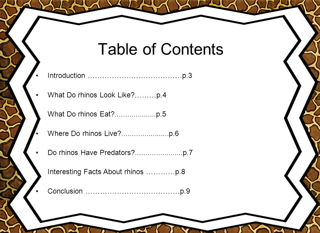 Table of Contents Introduction …………………………………p.3