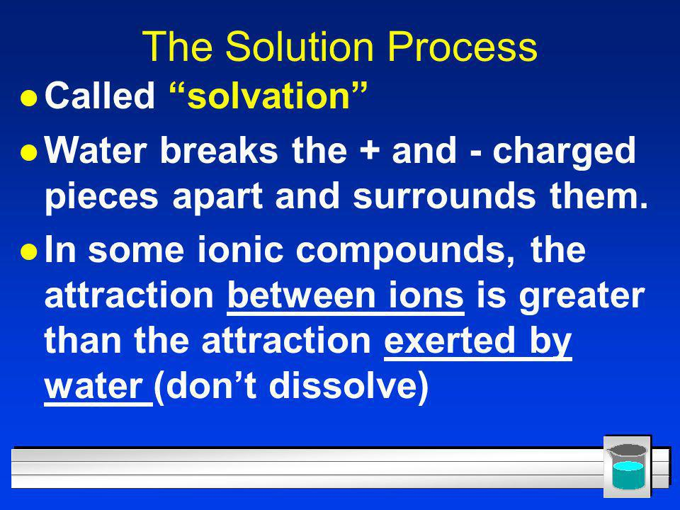 The Solution Process Called solvation