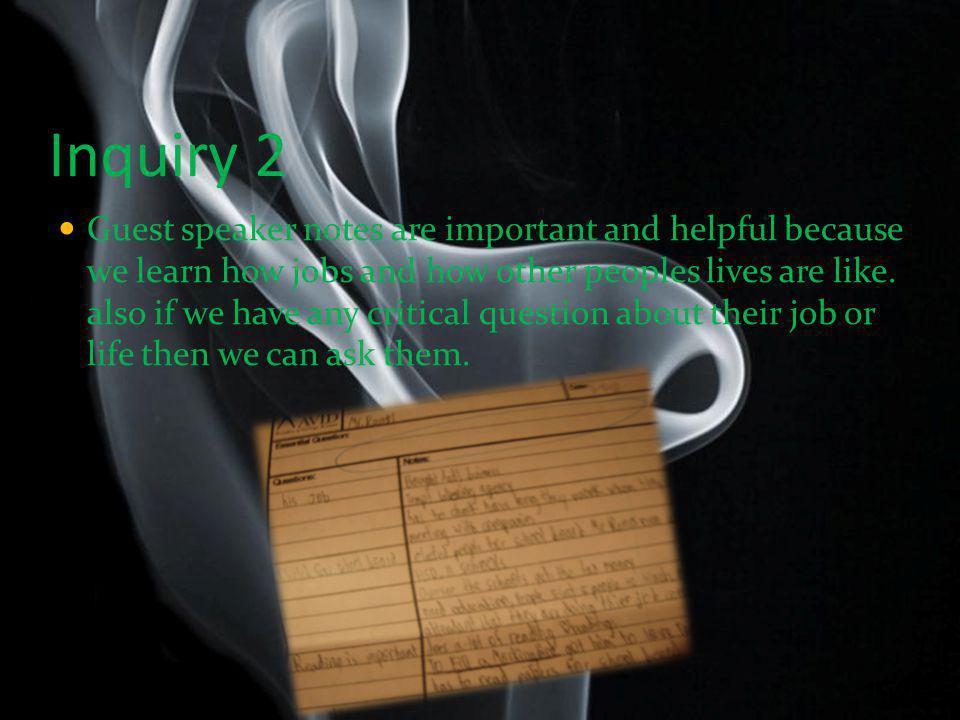 Inquiry 2