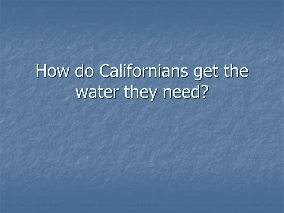 How do Californians get the water they need