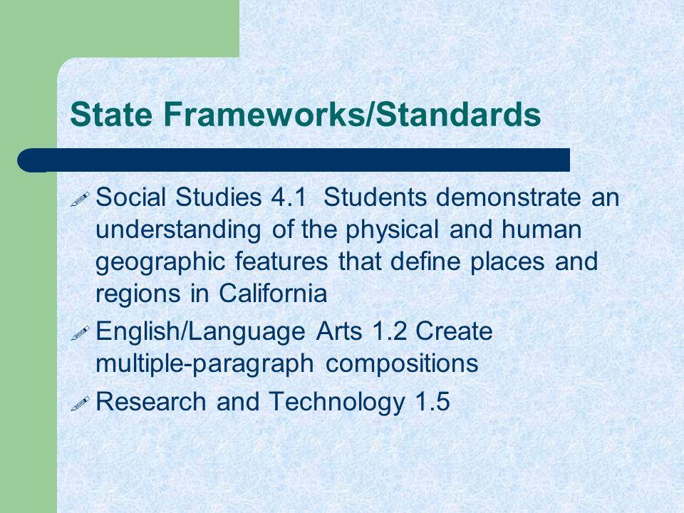 State Frameworks/Standards