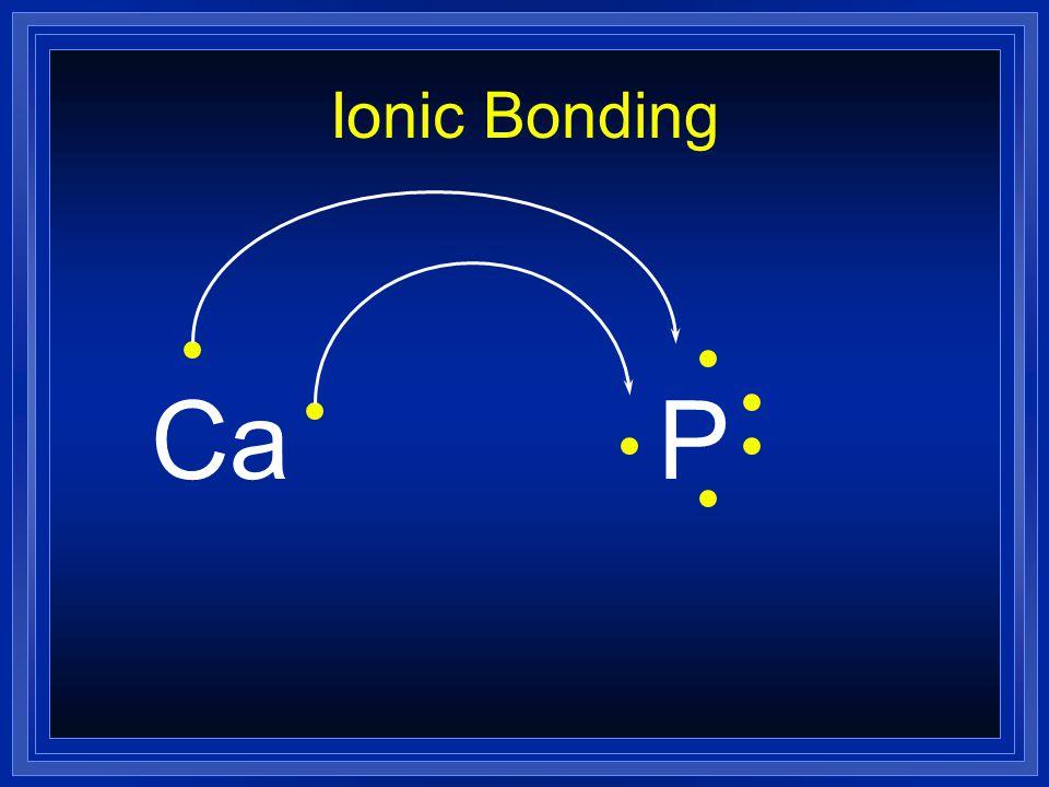 Ionic Bonding Ca P
