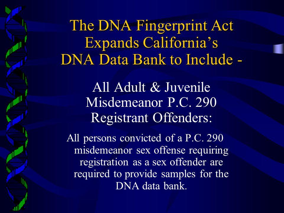 All Adult & Juvenile Misdemeanor P.C. 290 Registrant Offenders: