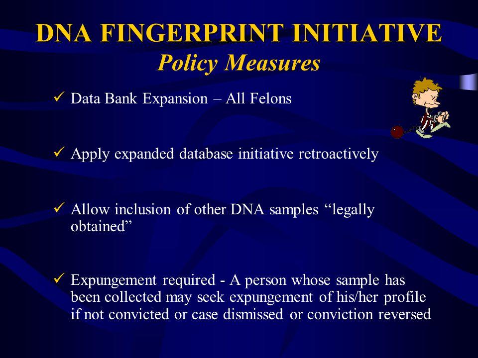 DNA FINGERPRINT INITIATIVE Policy Measures