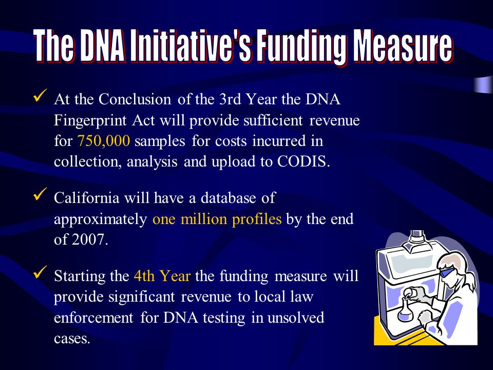 The DNA Initiative s Funding Measure