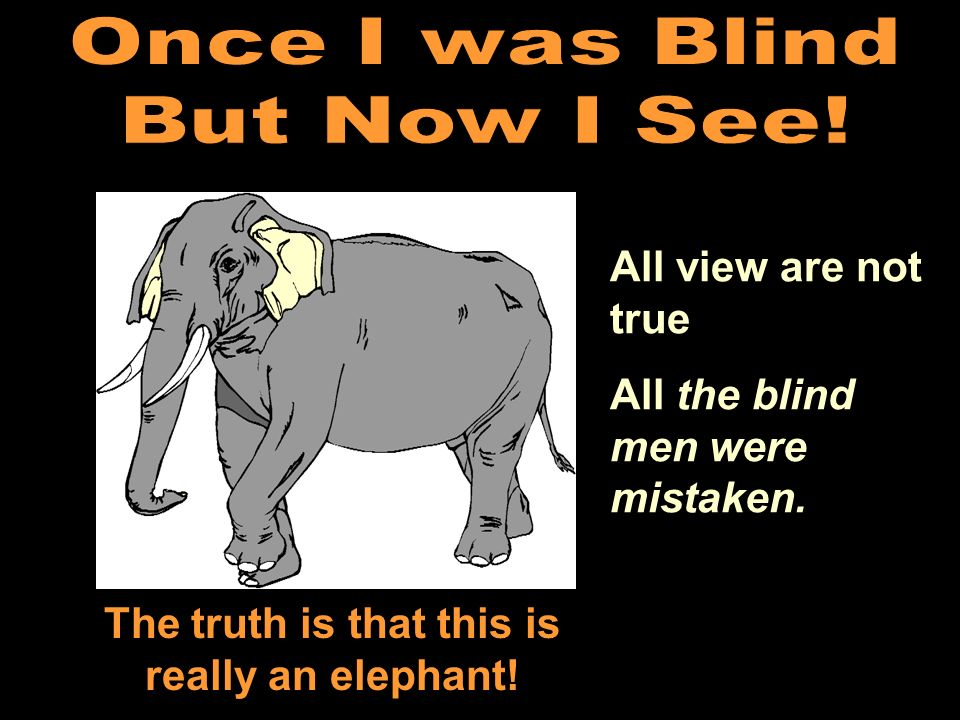 The truth is that this is really an elephant!