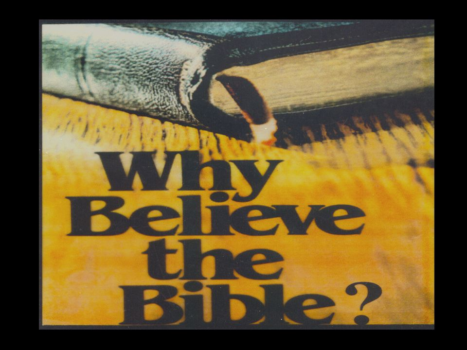 To say Christianity is true because the Bible is true and to say that the Bible is true because it is God's word based upon what he has said in it - is circular reasoning.