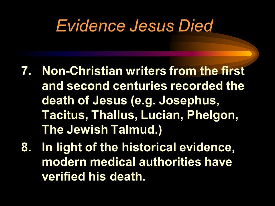 Evidence Jesus Died