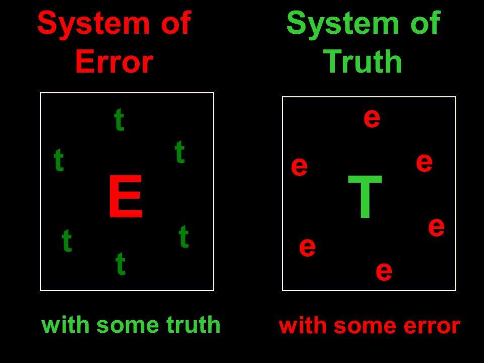 E T System of Error System of Truth e t t t e e e t t e t e