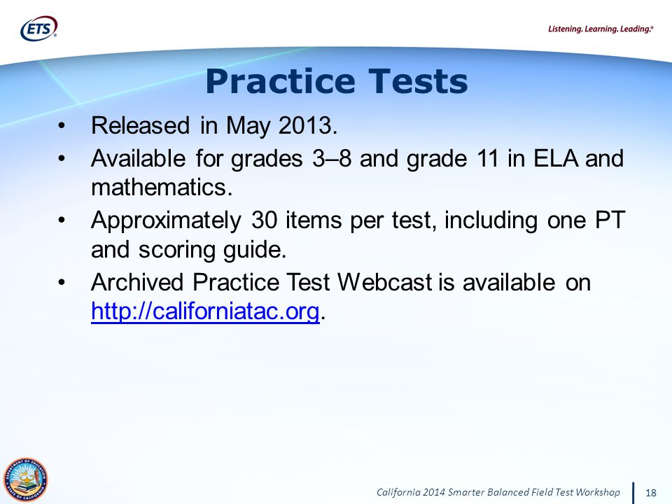 Practice Tests Released in May 2013.