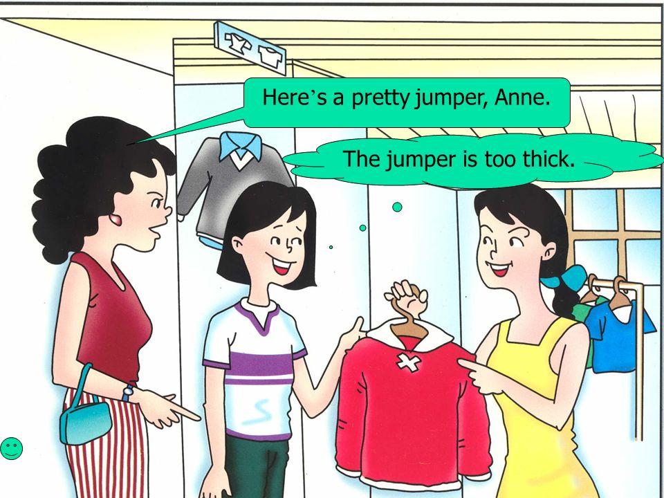 Here's a pretty jumper, Anne.